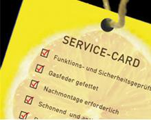 Service Card nach Reinigung Stühle-Check